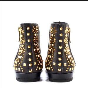 "BCBG ""Logann"" leather studded boot."